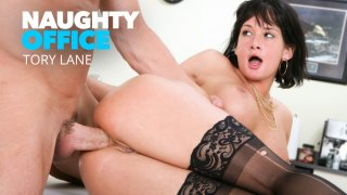 Tory Lane takes a huge cock in her ass - Naughty Office