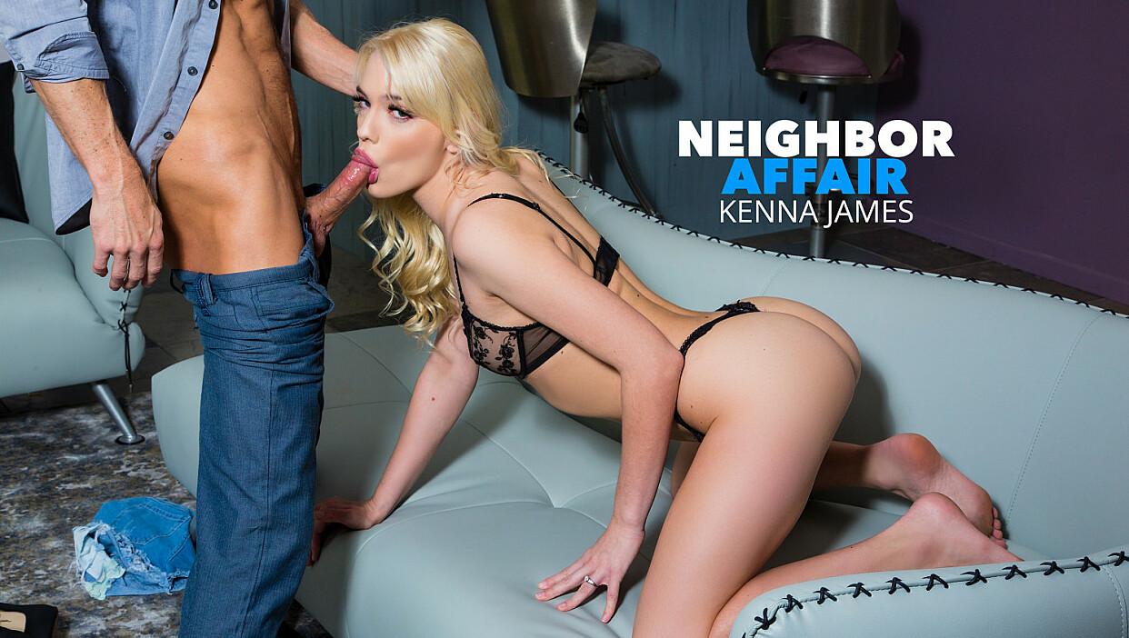 Kenna James hooks up with her single neighbor for extra cash - Neighbor Affair