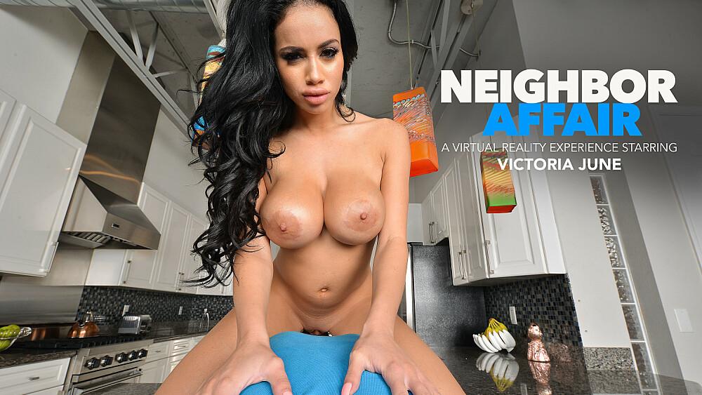 Victoria June comes over to meet you and borrow some CREAM! - Neighbor Affair