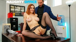 Lilian Stone drains her boss' balls to help relieve his stress - Naughty Office