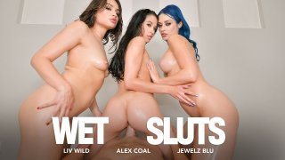 Alex Coal, Jewelz Blu, and Liv Wild get all oiled up to fuck you - American Daydreams