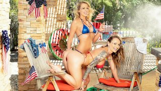 Independence Day Threesome with Zoey Monroe & Natasha Starr - My Sister's Hot Friend