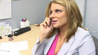 Jackie Moore fucking in the office with her tattoos - Naughty Office