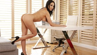 Vicki Chase fucking in the office with her tattoos - Naughty Office