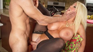 Alura 'TNT' Jenson fucking in the floor with her tits - Neighbor Affair