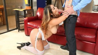 Latina Miss Raquel fucking in the floor with her brown eyes - Neighbor Affair