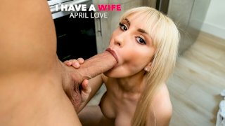 April Love has her friend's husband's wedding band and fucks him for a trade - I Have a Wife