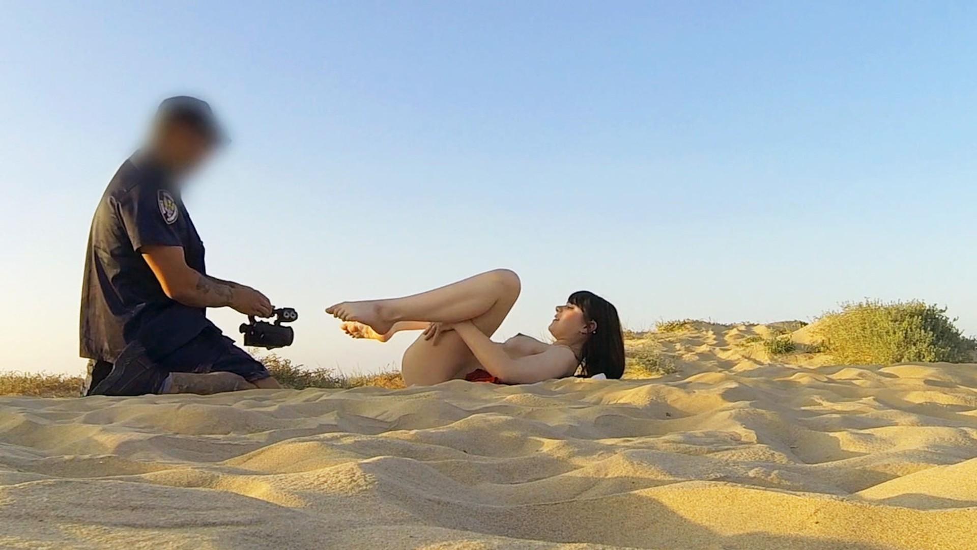Cop Fucks Cute Teen on Nudist Beach - Fake Cop