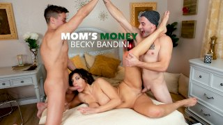MILF Becky Bandini gets tag teamed by college boys - Mom's Money