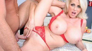Penny Porsche fucking in the table with her average body - My Friend's Hot Mom
