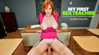 You need an 'A' in Ms. Lauren Phillips' class and she wants your big cock in her pussy as a trade!! - My First Sex Teacher