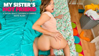 Katie Kush's friend's brother stops by her dorm room for a book but ends up getting some pussy! - My Sister's Hot Friend